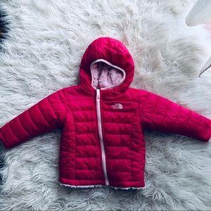 18m  girls North Face Pink reversible Jacket.